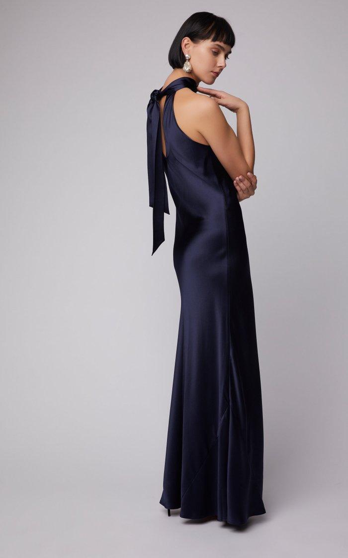 Sienna Silk Halter Dress