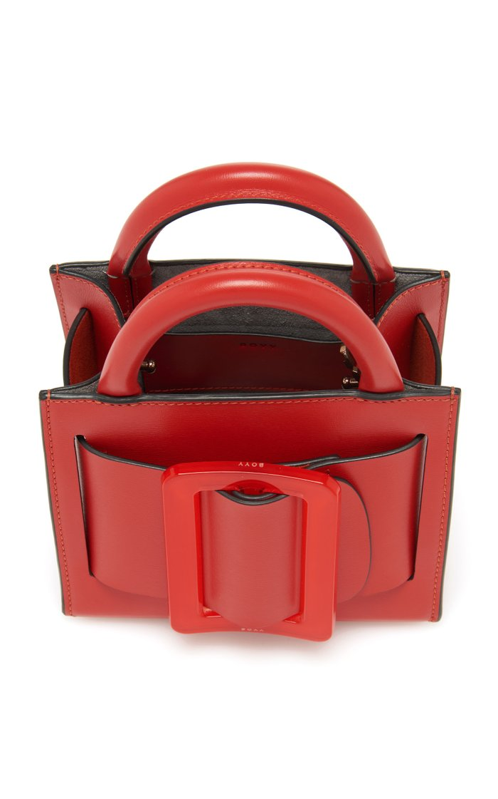 Bobby Mini Buckled Leather Tote