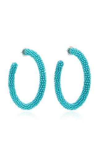 Eliza Bead Embellished Hoop Earrings