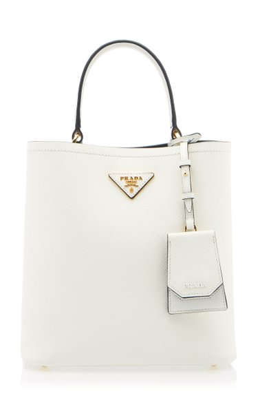 Textured-Leather Tote Bag