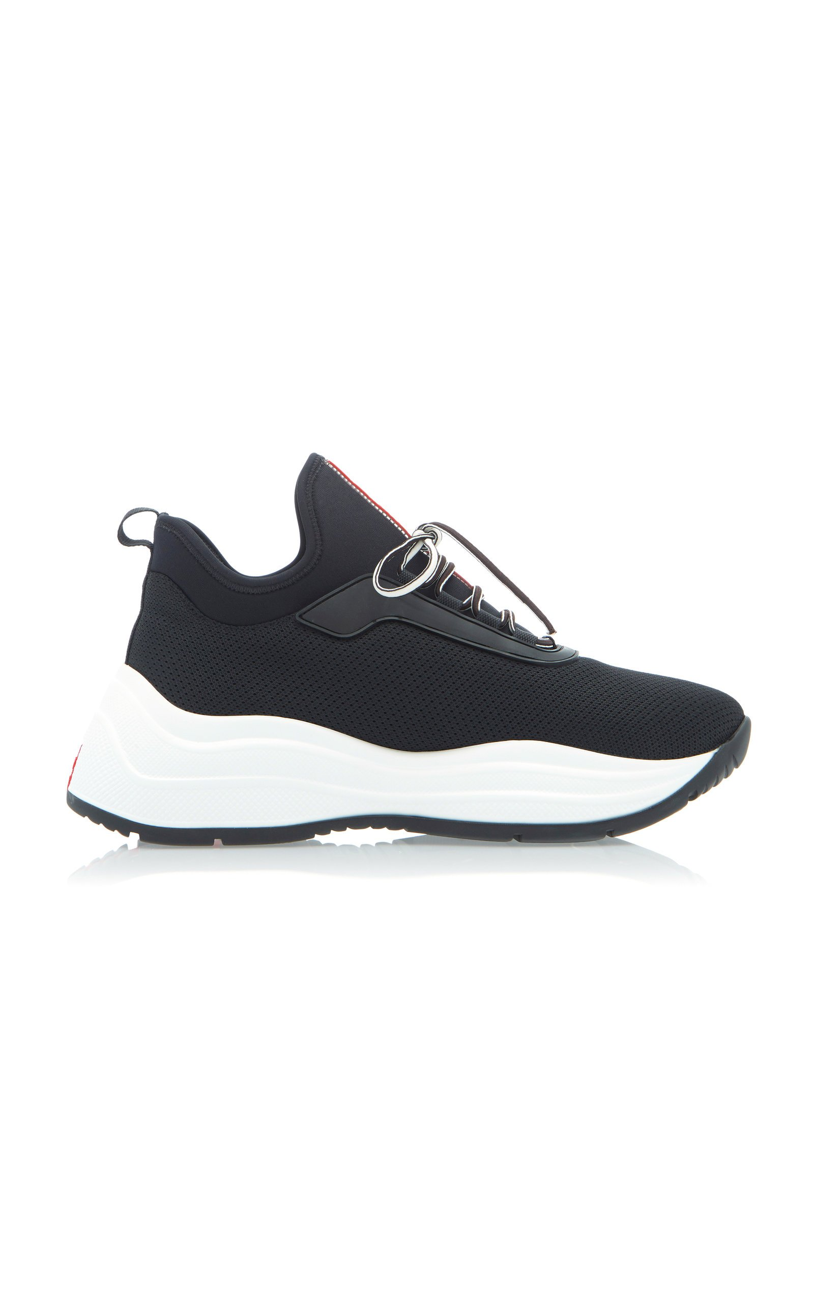 Neoprene And Rubber Sneakers By Prada