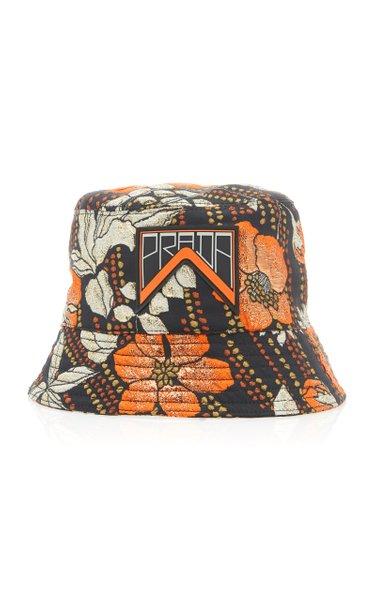 Printed Cloqué Bucket Hat