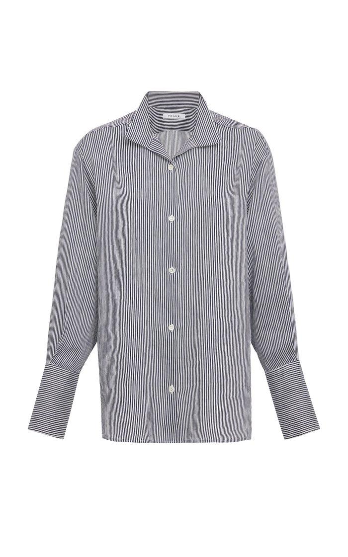 Striped Linen-Blend Shirt