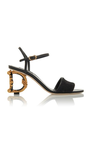 Baroque-Heel Lurex Sandals