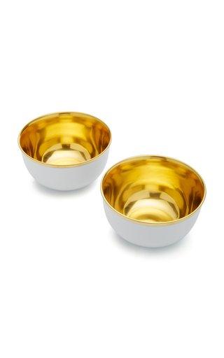 Set-Of-Two Porcelain Champagne Bowls
