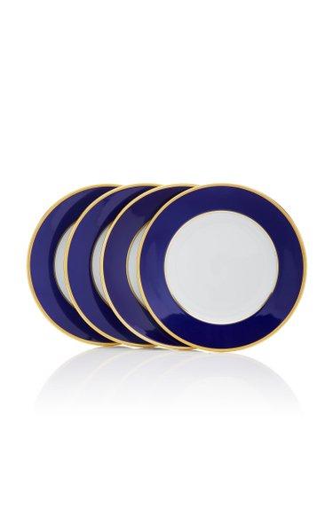 Set-Of-Four Porcelain Dessert Plates