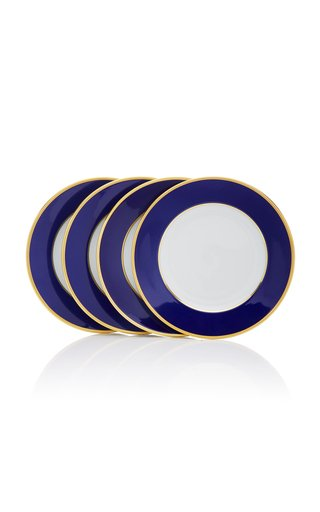 Set-Of-Four Porcelain Dessert Plates