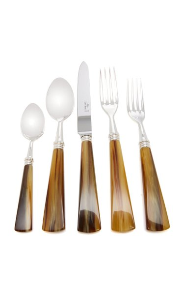 Tonia Silver-Plated Horn Silverware Set