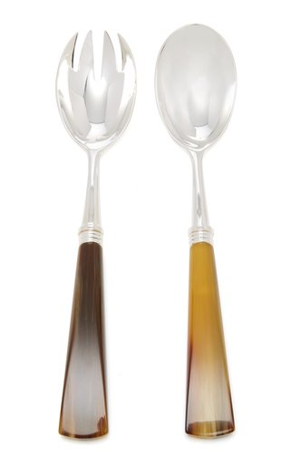Tonia Silver-Plated Horn Salad Set