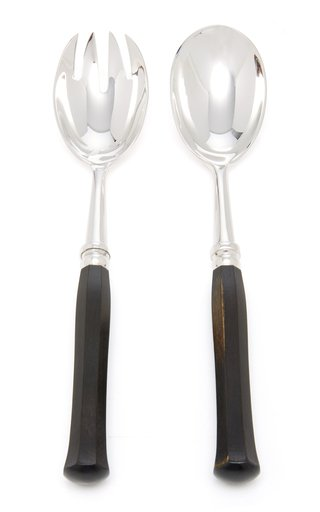 Riviera Silver-Plated Ebony Salad Set