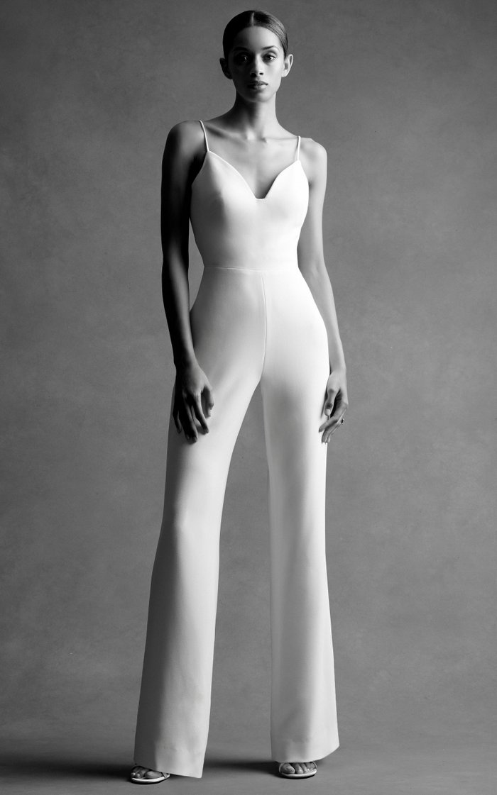 Exclusive Straight-Leg Stretch-Crepe Jumpsuit