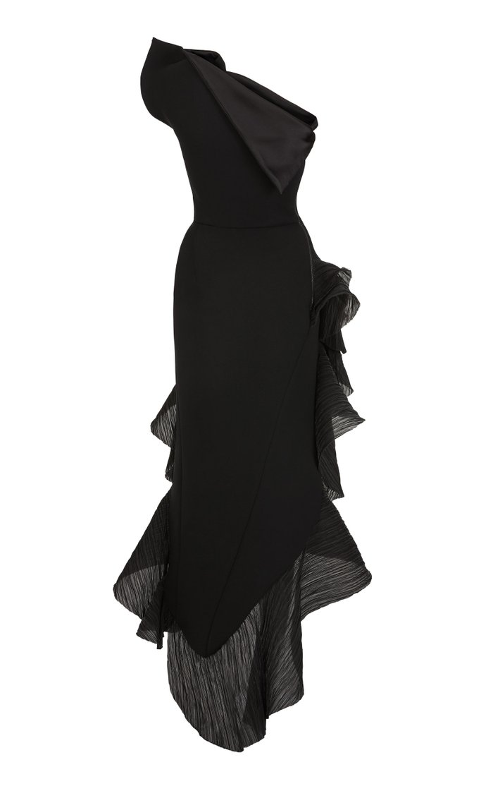 Flamenco Ruffled Asymmetric Midi Dress
