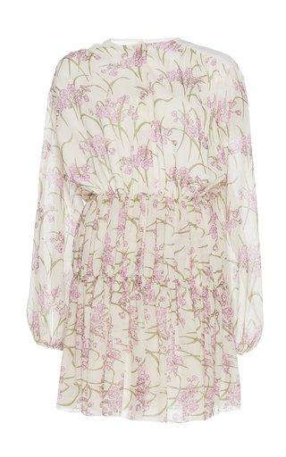 Cinched Silk Mini Dress