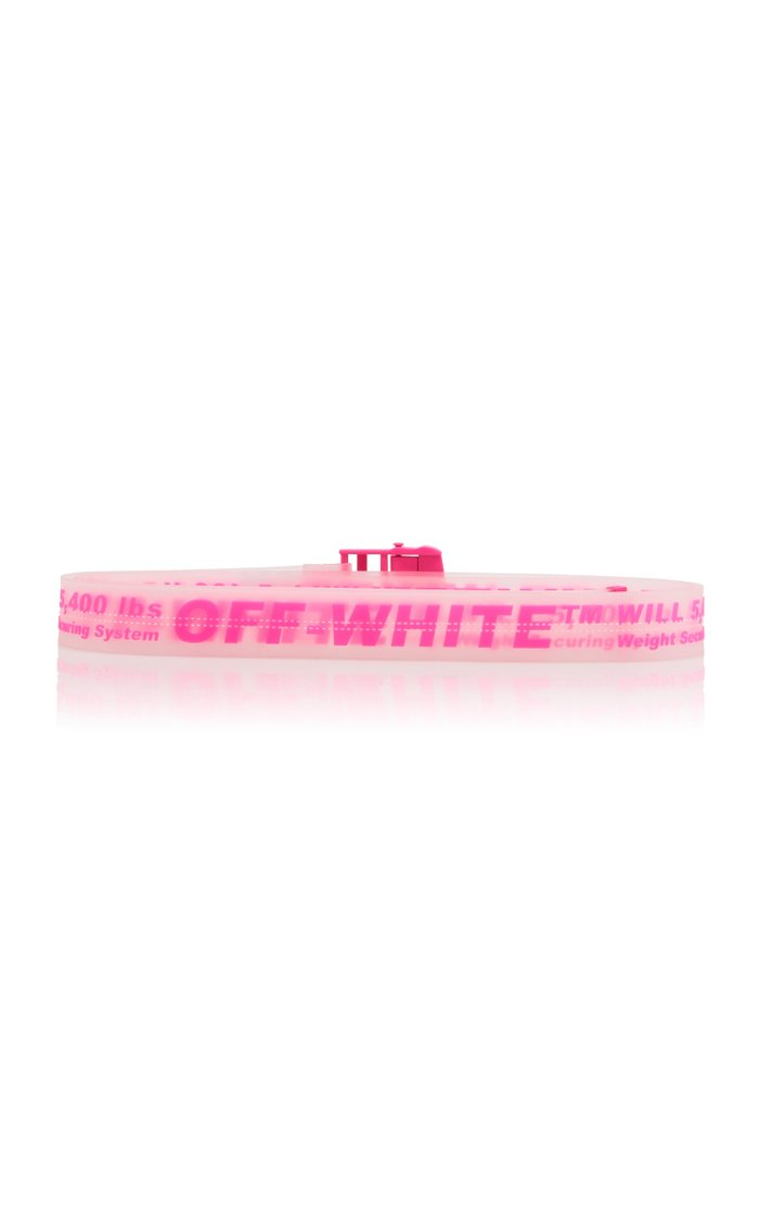 Pink Printed Translucent PVC Belt