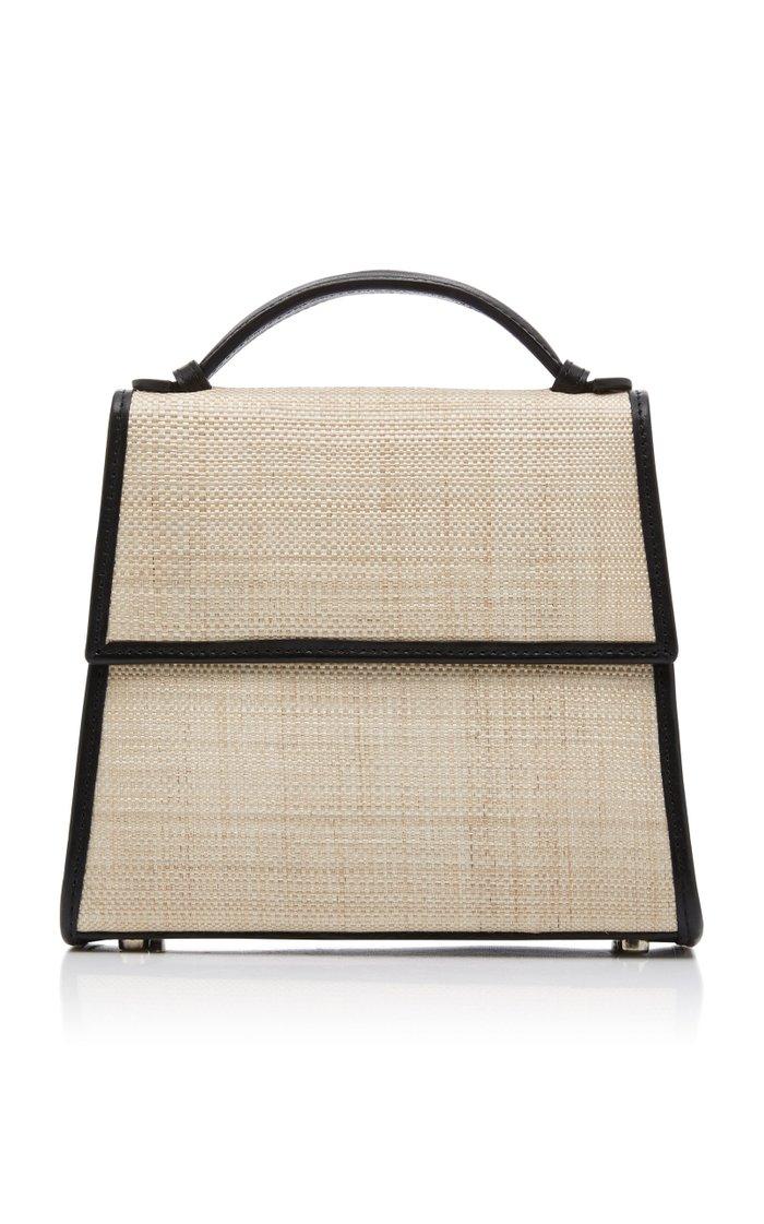 Small Top Handle Bag in Napa and Platano