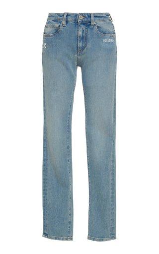Stretch Mid-Rise Skinny-Leg Jeans