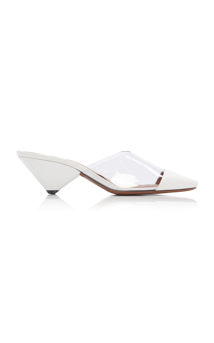 Eriopsis Leather and PVC Mules