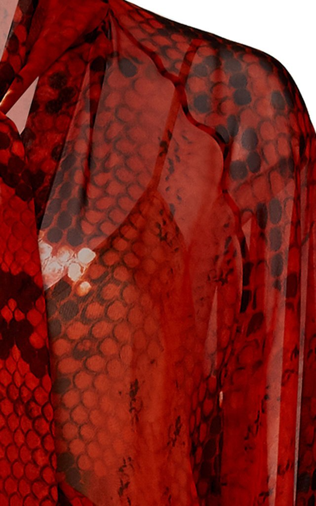 Delmar Panelled Chiffon Maxi Dress