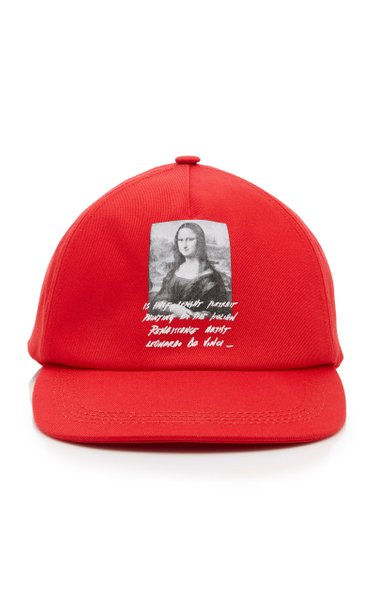 Mona Lisa Printed Cotton Baseball Cap