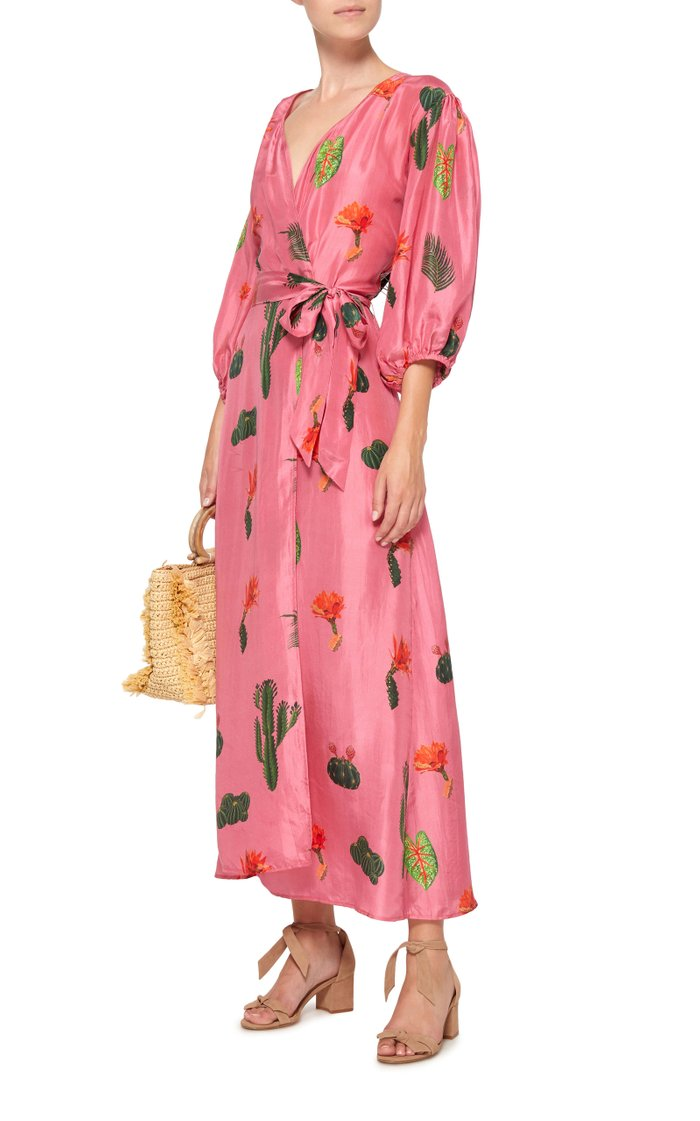 Donna Printed Silk Robe