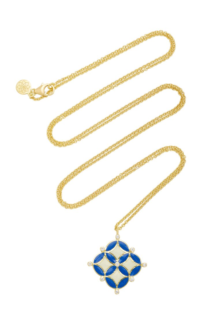 Mosaic 18K Gold And Diamond Necklace