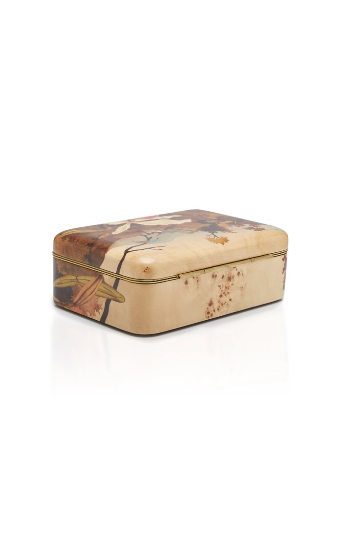 Orchid And Hummingbird Wooden Box