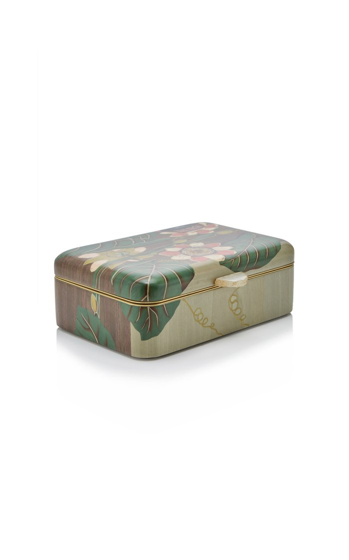 Passion Flower Wooden Box