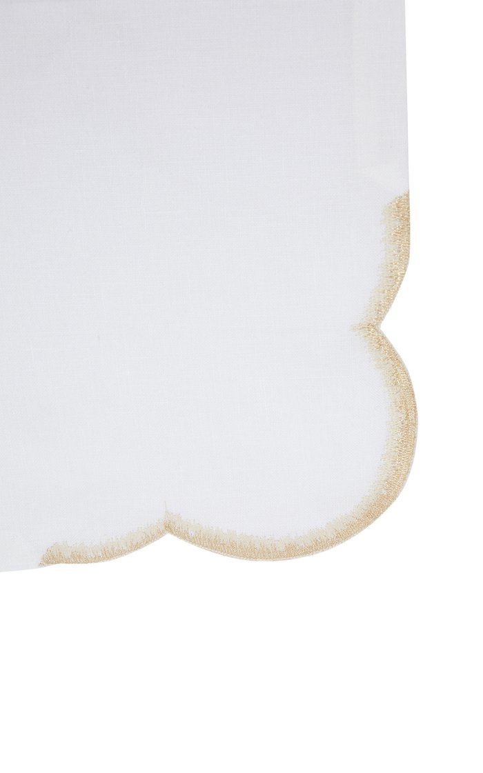 Set-Of-Two Shade Linen Dinner Napkins