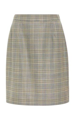 Randun Plaid Mini Skirt