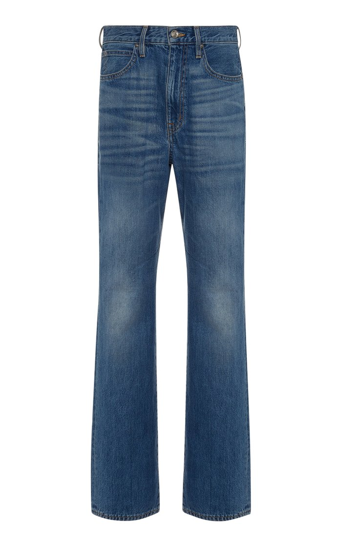 London High-Waisted Straight-Leg Jeans