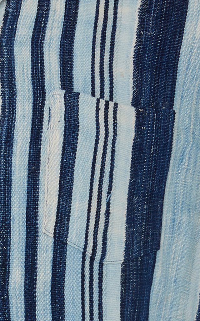 Striped Cotton Bowling Shirt