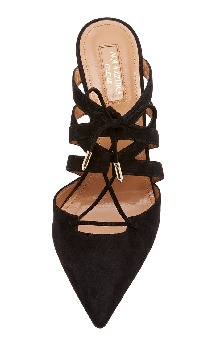 Belgravia Point-Toe Lace-Up Leather Sandals