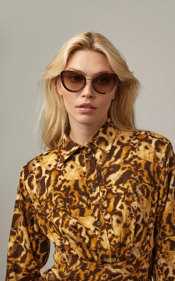 Tortoiseshell Acetate Cat-Eye Sunglasses