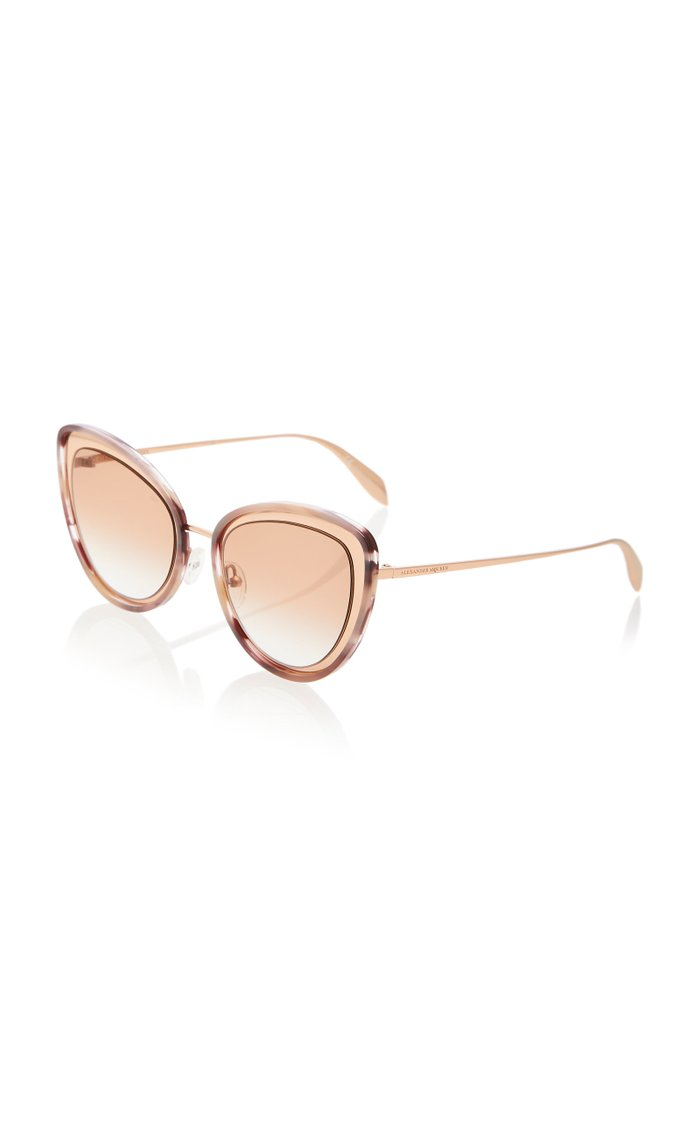 Marbled Acetate Cat-Eye Sunglasses