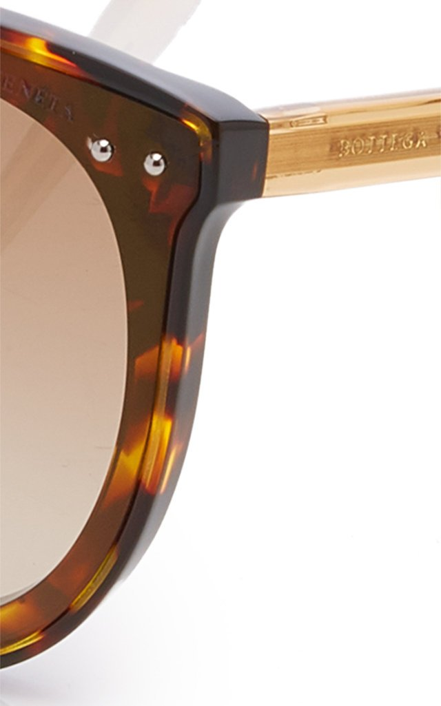 Oversized Tortoiseshell Acetate Cat-Eye Sunglasses