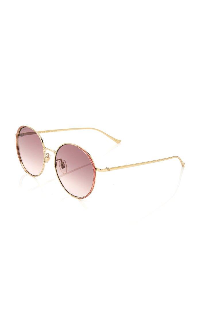 Guillochet Rounded Sunglasses