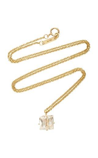 18K Gold Morganite Necklace