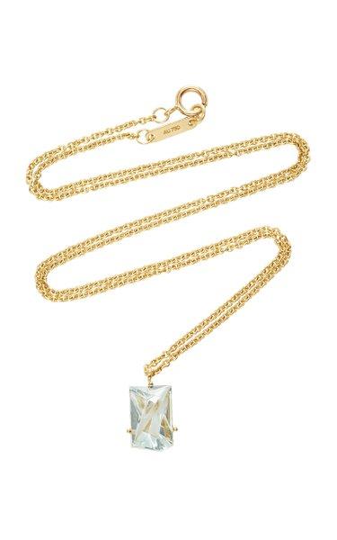 18K Gold Aquamarine Necklace