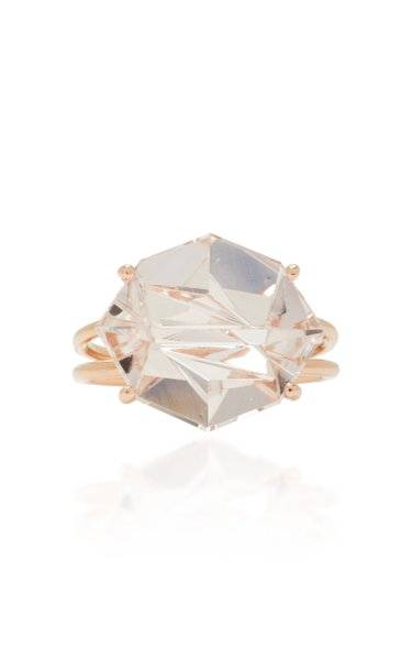 18K Rose Gold Morganite Ring