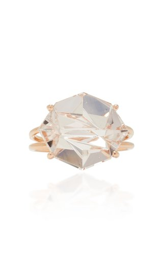 18K Rose Gold Morganite Ring