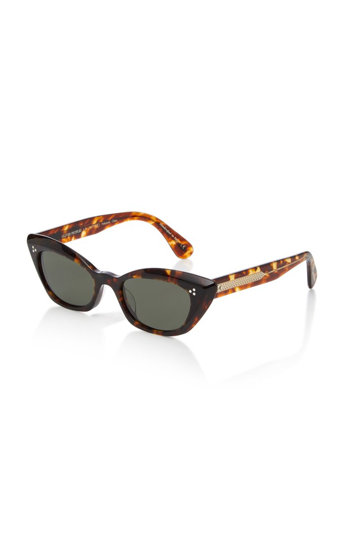 Bianka Cat-Eye Tortoiseshell Sunglasses
