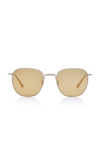 Board Meeting Square-Frame Metal Sunglasses