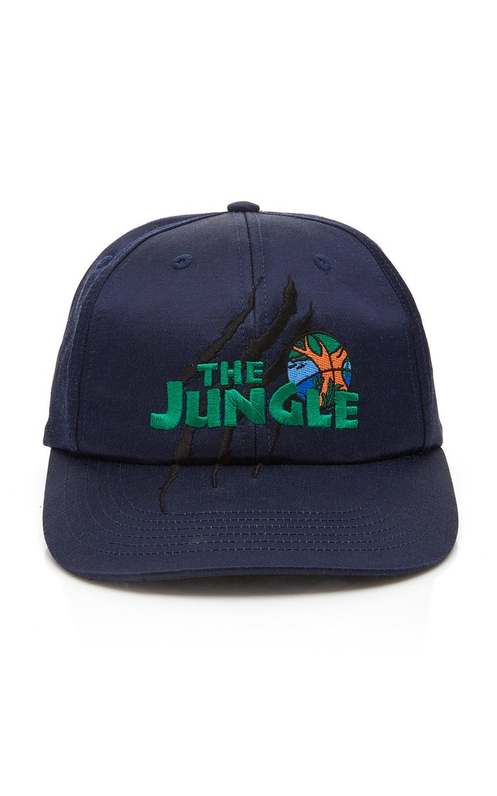 The Jungle Embroidered Satin Baseball Hat