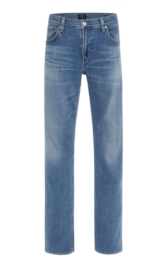 Bowery Mid-Rise Slim-Leg Jeans