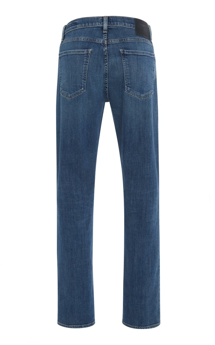 Gage Mid-Rise Straight-Leg Jeans