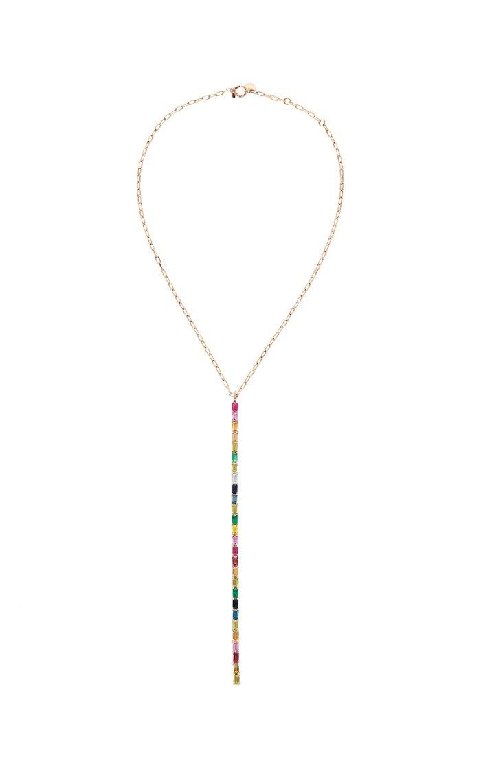 18K Rose Gold Multi-Stone Necklace