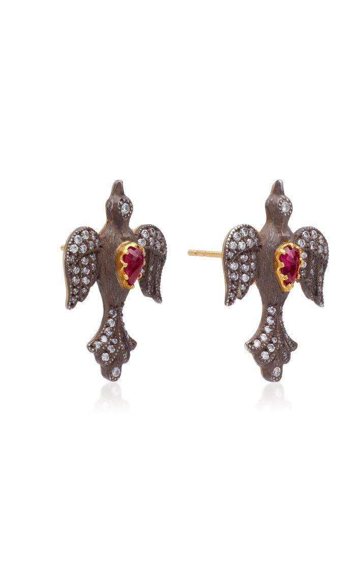 Louiza 22K Gold Diamond Earrings