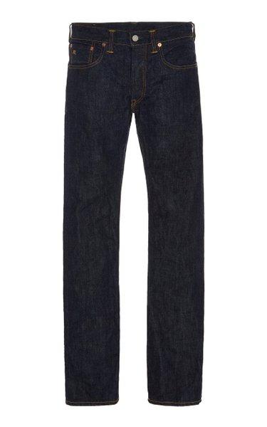 Mid-Rise Selvage Denim Slim-Leg Jeans