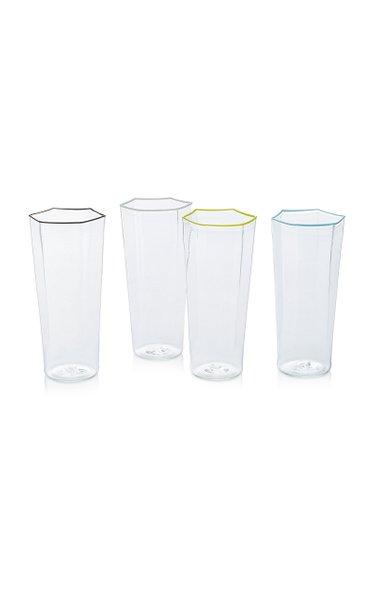 Set-Of-Four Murano Glass Flutes