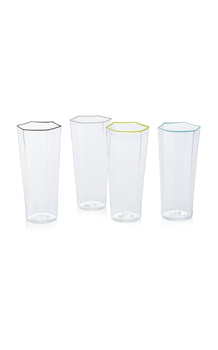Set-Of-Four Murano Glass Flutes